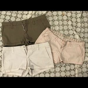 Lot of 3 Juniors Shorts Hurley Abercrombie & Fitch